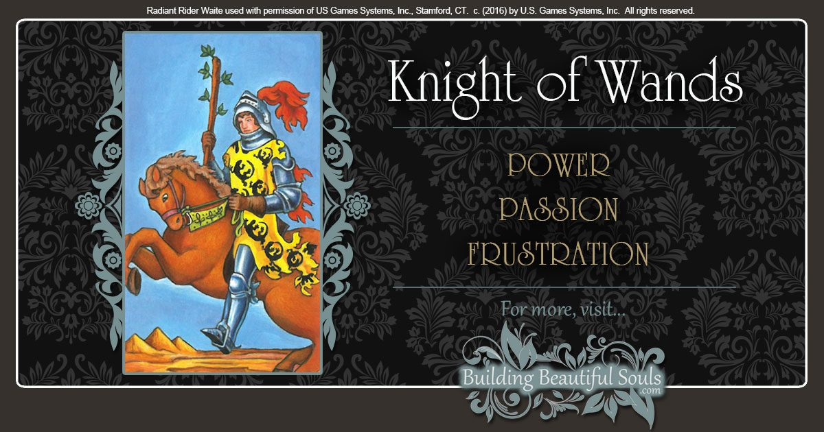 The Knight of Wands Tarot Card Meanings 1200x630