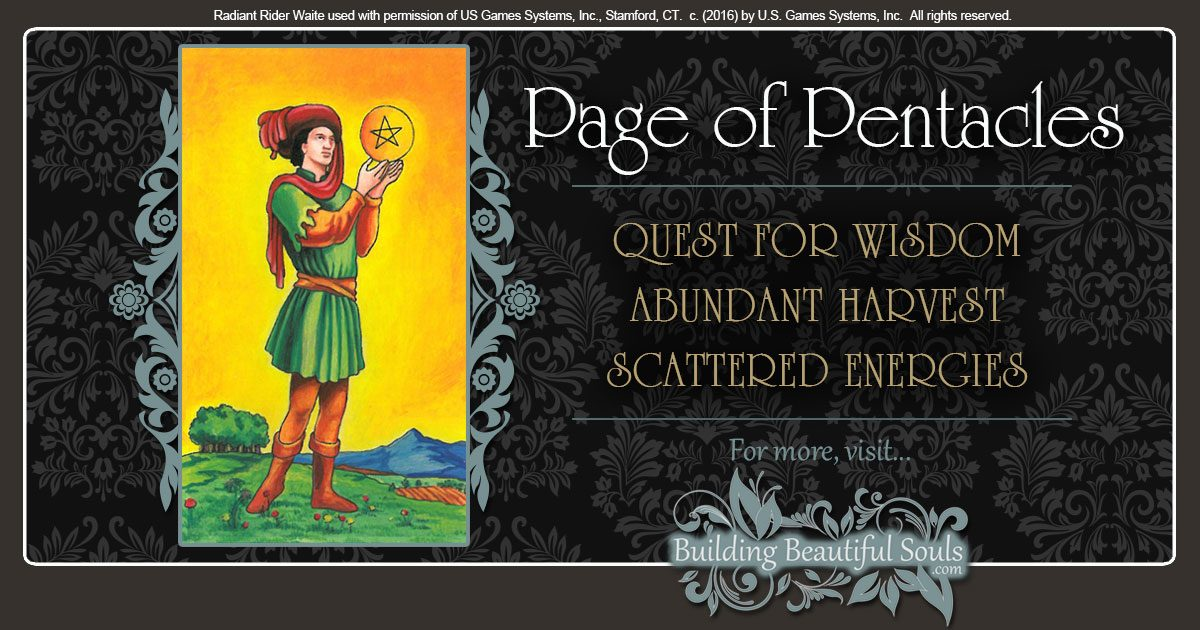 The Page of Pentacles Tarot Card Meanings 1200x630