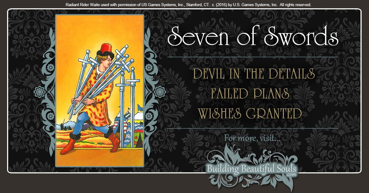 The Seven Of Swords Tarot Card Meanings Tarot Reading