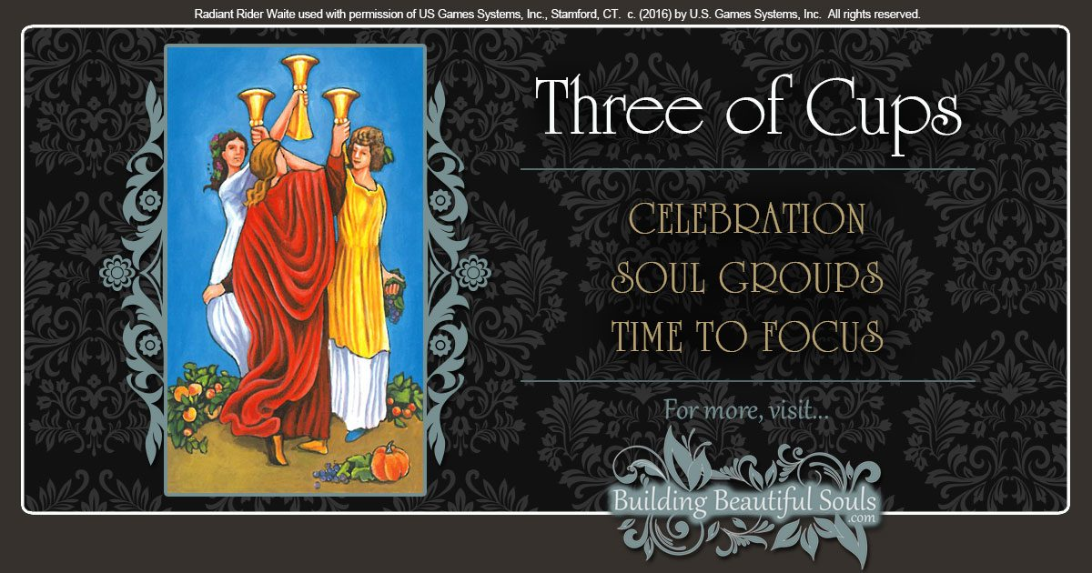 The Three of Cups Tarot Card Meanings 1200x630