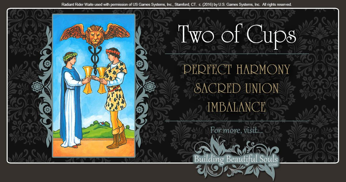 The Two of Cups Tarot Card Meanings 1200x630