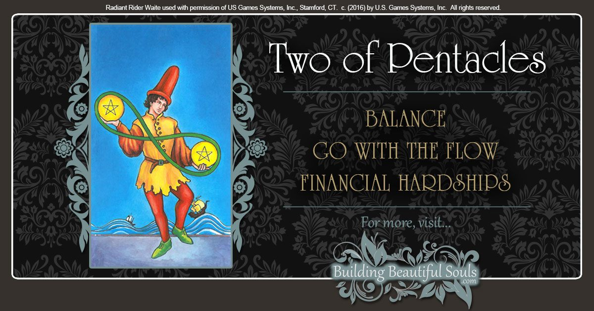 The Two of Pentacles Tarot Card Meanings 1200x630