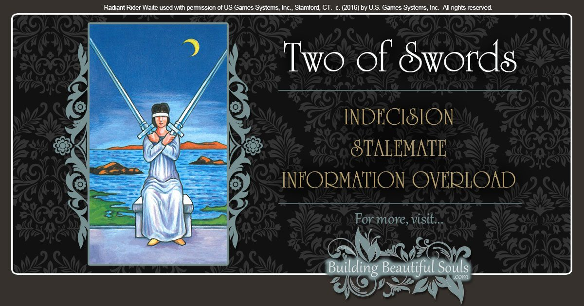 The Two Of Swords Tarot Card Meanings Tarot Reading
